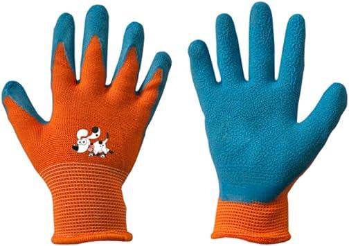 Niños Guantes de trabajo Látex guantes de protección Guantes de jardinería guantes guantes infantil naranja talla 5: Amazon.es: Bricolaje y herramientas