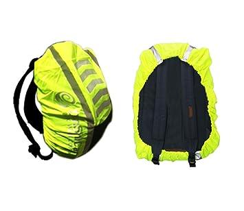 Funda reflectante de alta visibilidad para mochila, impermeable, amarillo: Amazon.es: Deportes y aire libre