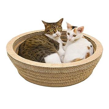 AITOCO - Cuenco para Mascotas, rascador de Gatos, Gran Espacio, Almohadilla para arañar, Juguete para moler Garras y Masaje: Amazon.es: Coche y moto