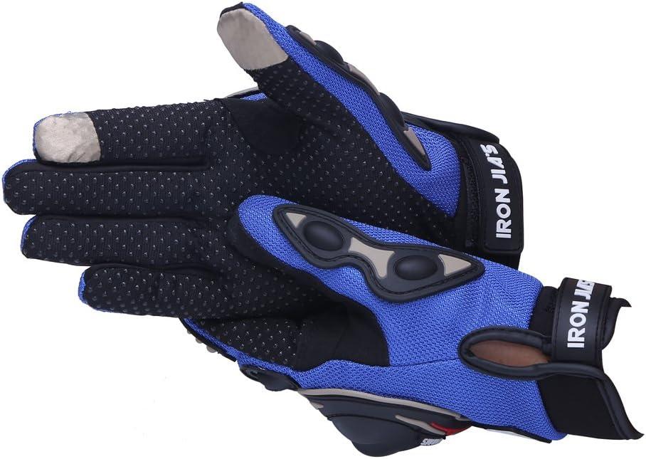 XL, bleu IRON JIAS professionnel gants de moto tout-terrain Racing Gants moto Gants Drop r/ésistance /Écran tactile Gants GUANTES luvas