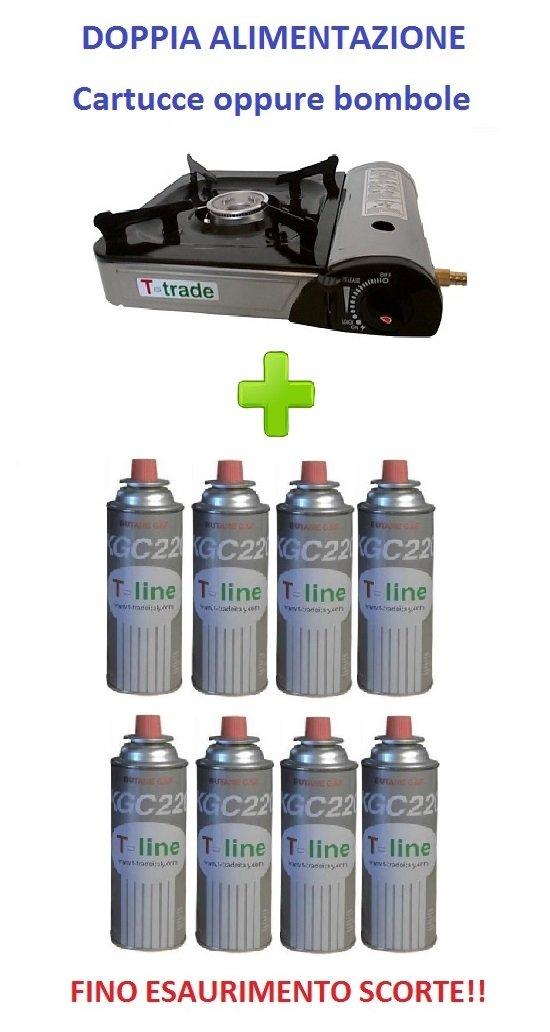 Gaskocher Bistro Tisch Typ Leistung 2.200 Watt mit Watt Hochleistungs Piezo Elektrische funktioniert mit doppelte Stromversorgung (-Gas oder Gasflasche) inklusive JVC WaterShield 8 Medienkit A GAS