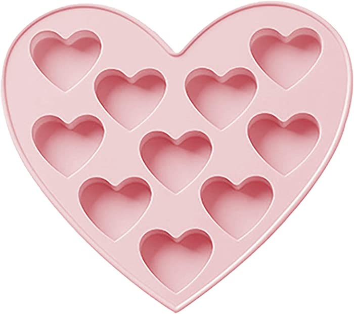 Heart Shape Chocolate,Cookies,Madeleine Cake Molds,BPA Free Food Grade Silicone,-40?to 230 ? Microwave Oven Freezer Steamer Use,Kitchen Bake Tool. (B/Pink)