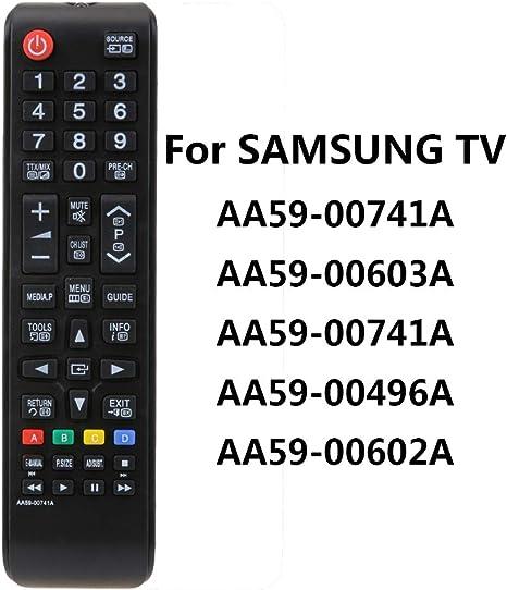 prettygood7 - Mando a Distancia para Samsung TV aa59-00603a AA59-00741A AA59-00496A AA59 (batería no incluida): Amazon.es: Deportes y aire libre