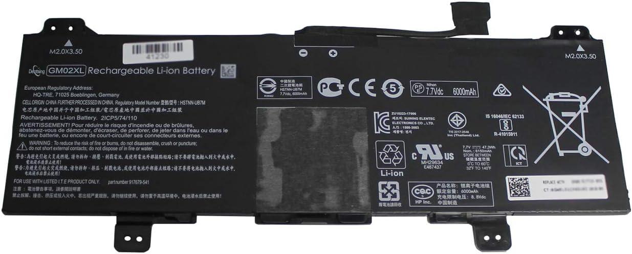 Dentsing GM02XL (7.7V 47.3Wh/6150mAh) Laptop Battery Compatible with HP Chromebook 14 G5 Chromebook X360 11 G1 Series Notebook GMO2XL 917679-271 917725-855 HSTNN-DB7X HSTNN-UB7M
