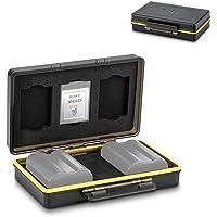 Camera XQD Card & Battery Case Organizer Holder for Nikon EN-EL15 EN-EL15a EN-EL15b on Nikon Z7 Z6 D850 D500 D5 D4 D4s Stores 2 Batteries & 3 XQD Cards