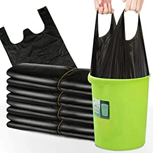 Trash Bags, Small trash Bags,Handy garbage bag,6 Rolls/300 Counts Small Garbage Bags for Office, Kitchen,Bedroom Waste Bin, Portable Strong Rubbish Bags,Wastebasket Bags