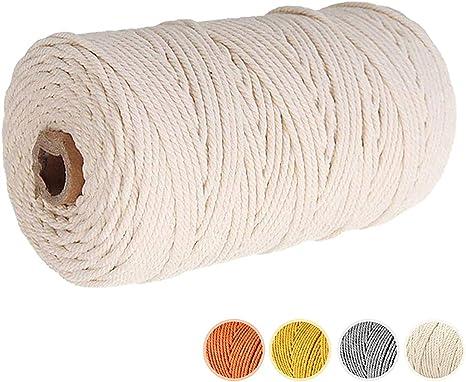 100 Meter Natürlich Baumwollgarn Baumwollschnur Bastelkordel  DIY Handwerk