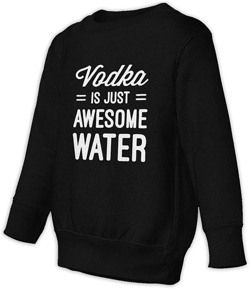 wudici Vodka is Just Awesome Water Boys Girls Pullover Sweaters Crewneck Sweatshirts Clothes for 2-6 Years Old Children