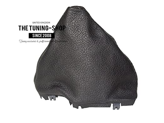 Automatik Leder Schaltsack schwarz mit Kunststoff Rahmen