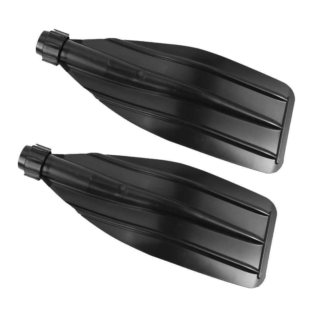 Black ABS Kayak Canoe Boat Paddle Oar Blade Fit For 27.3-28mm Aluminum Tube With Screw Cap 1 Pair
