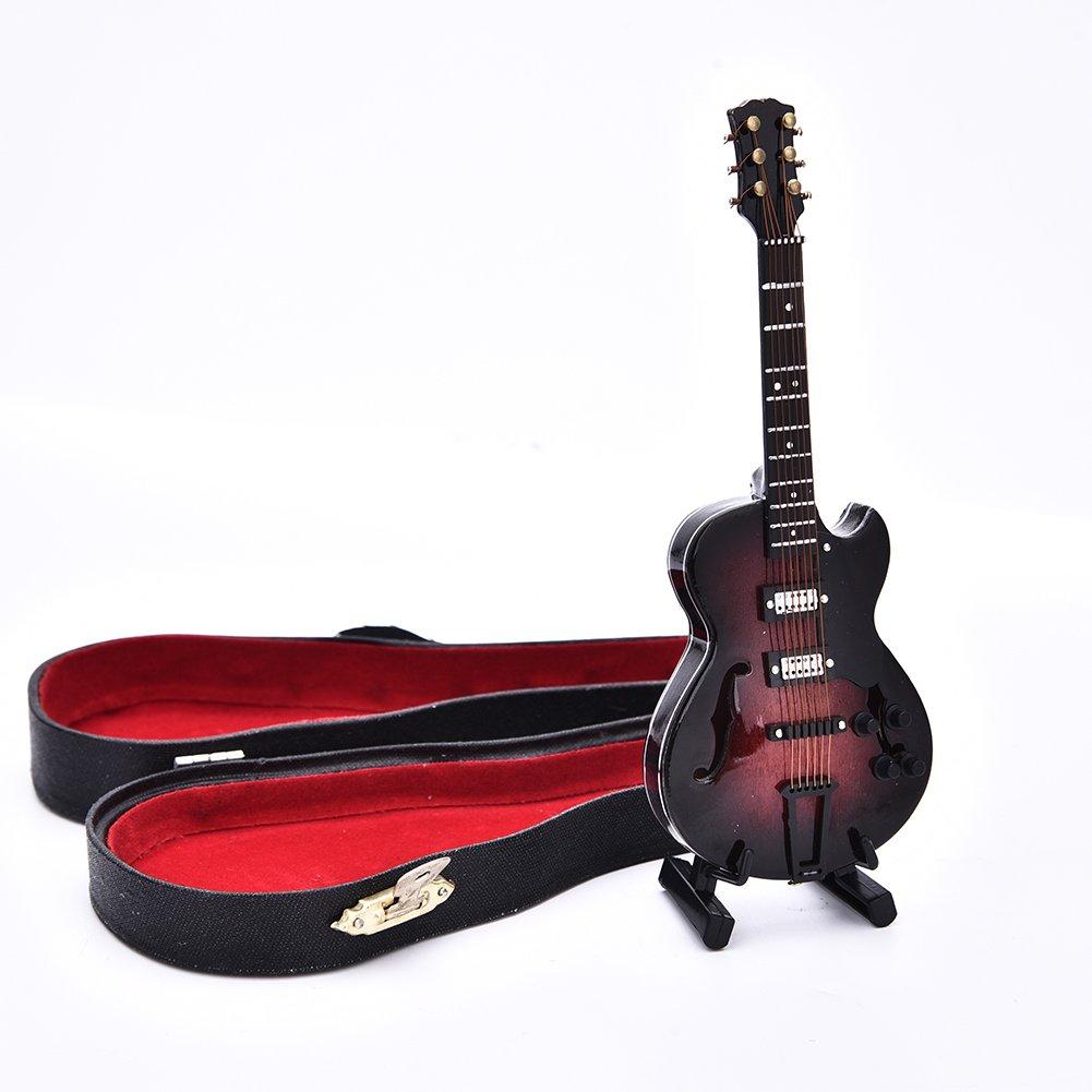 E-Gitarre Miniatur Replica Mini Musical Instrument Modell Box Top Grade Geschenk a Chengstore