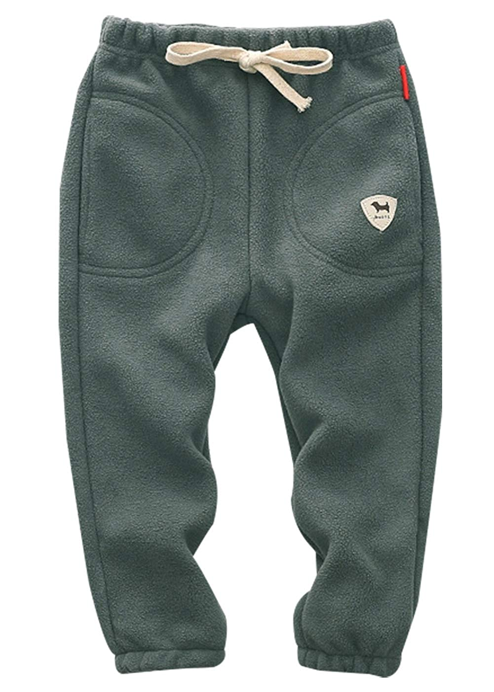 ZETA DIKES Boys Girl's Fleece Jogger Pants Elastic Waist Fit Sports Sweatpants
