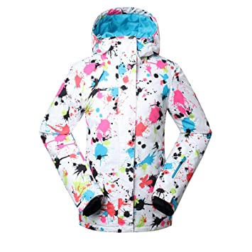 KD Moda Chaqueta de esquí Mujer Invierno Impermeable, frío ...
