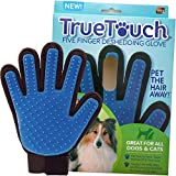 Deshedding Glove Brush for Dog and Cat, True Touch, Professional Pets Grooming Tools, Long or Short Hair Remover, Dogs, Cats, Horses, Bunnies, Pet Massage, Bathing, Brushing, Greate Pet Gift