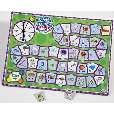 Didax Educational Resources Learning Lift-Off! Vowel Digraphs Game: Toys & Games