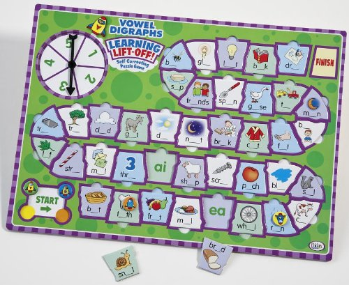 Didax Educational Resources Learning Lift-Off! Vowel Digraphs Game