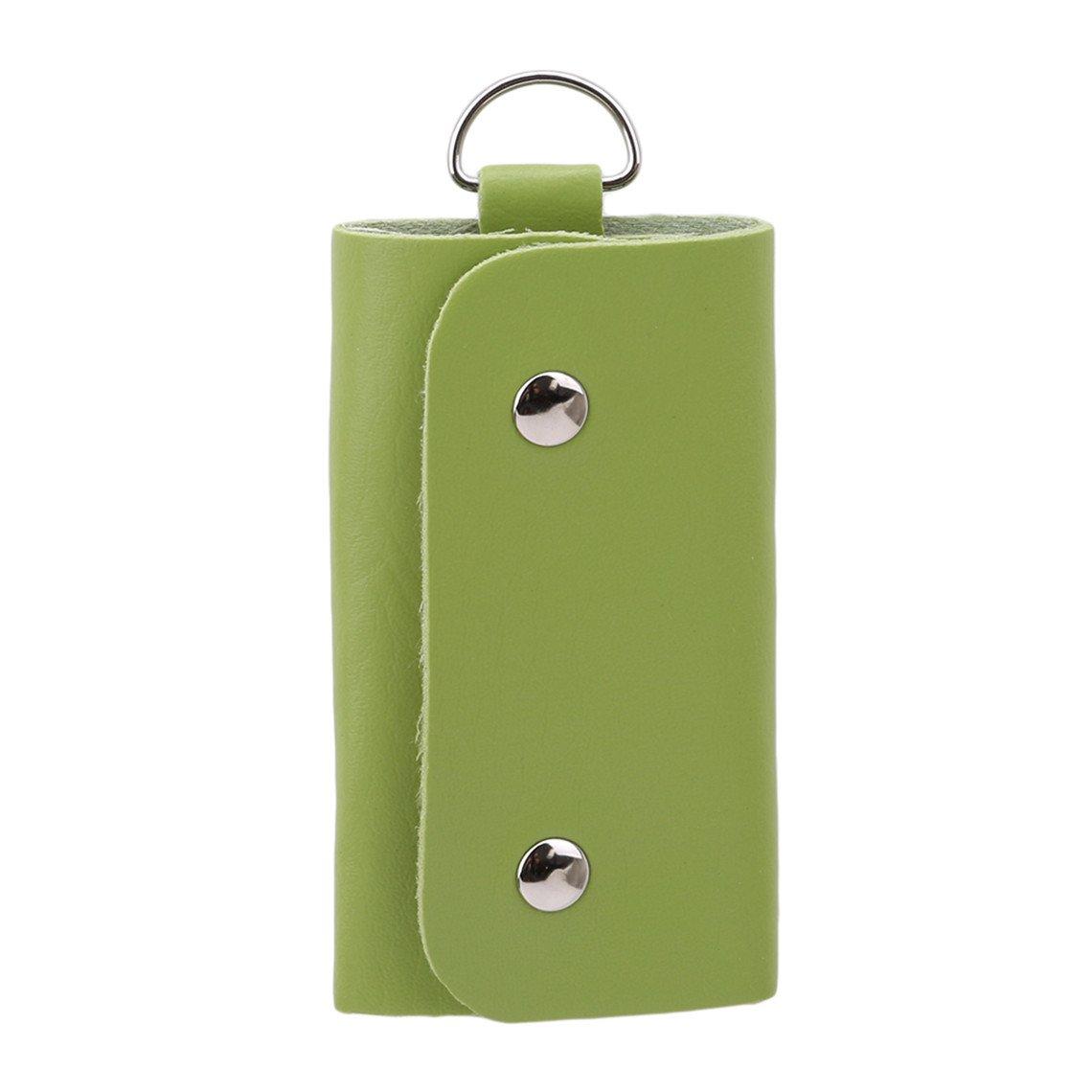Rurah Leather Key Case Wallet Mens Womens Key Case Car Key Holder Bag Wallet,green