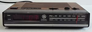 Vintage 80s GE AM/FM Digital Alarm Clock Radio Woodgrain Model 7-4624B WORKS!