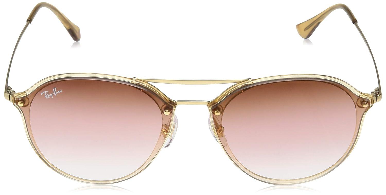 548ae2e625 Amazon.com  Ray-Ban 0rb4292n6327e462blaze Doublebridge Non-Polarized  Iridium Square Sunglasses
