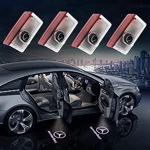 JIAFENG - Luces LED para puerta de coche con logotipo para ...