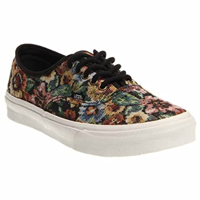 Vans - Unisex Authentic Slim Shoes in (Tapestry Floral) Black