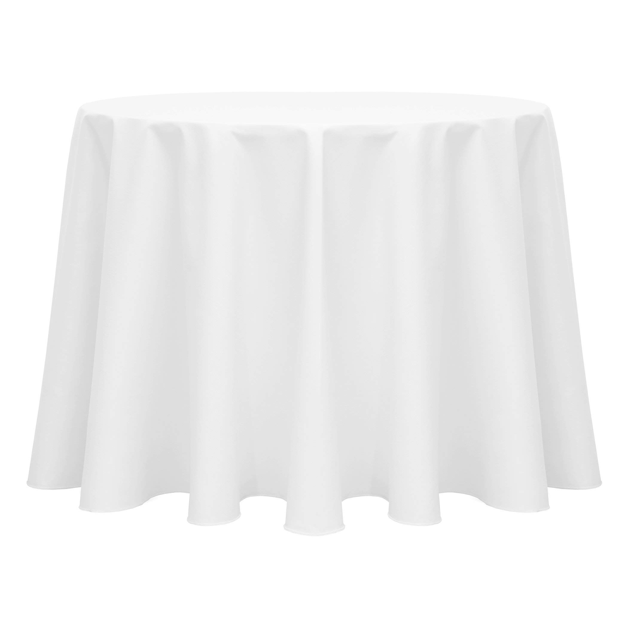 Ultimate Textile Poly-Cotton Twill 120-Inch Round Tablecloth White