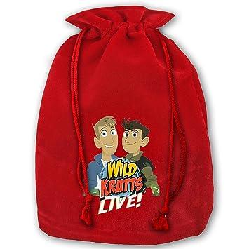 cc434a17b618 Amazon.com  Shnwug Santa Gift Bags Wild Kratts X Mas Red Gift Bags ...