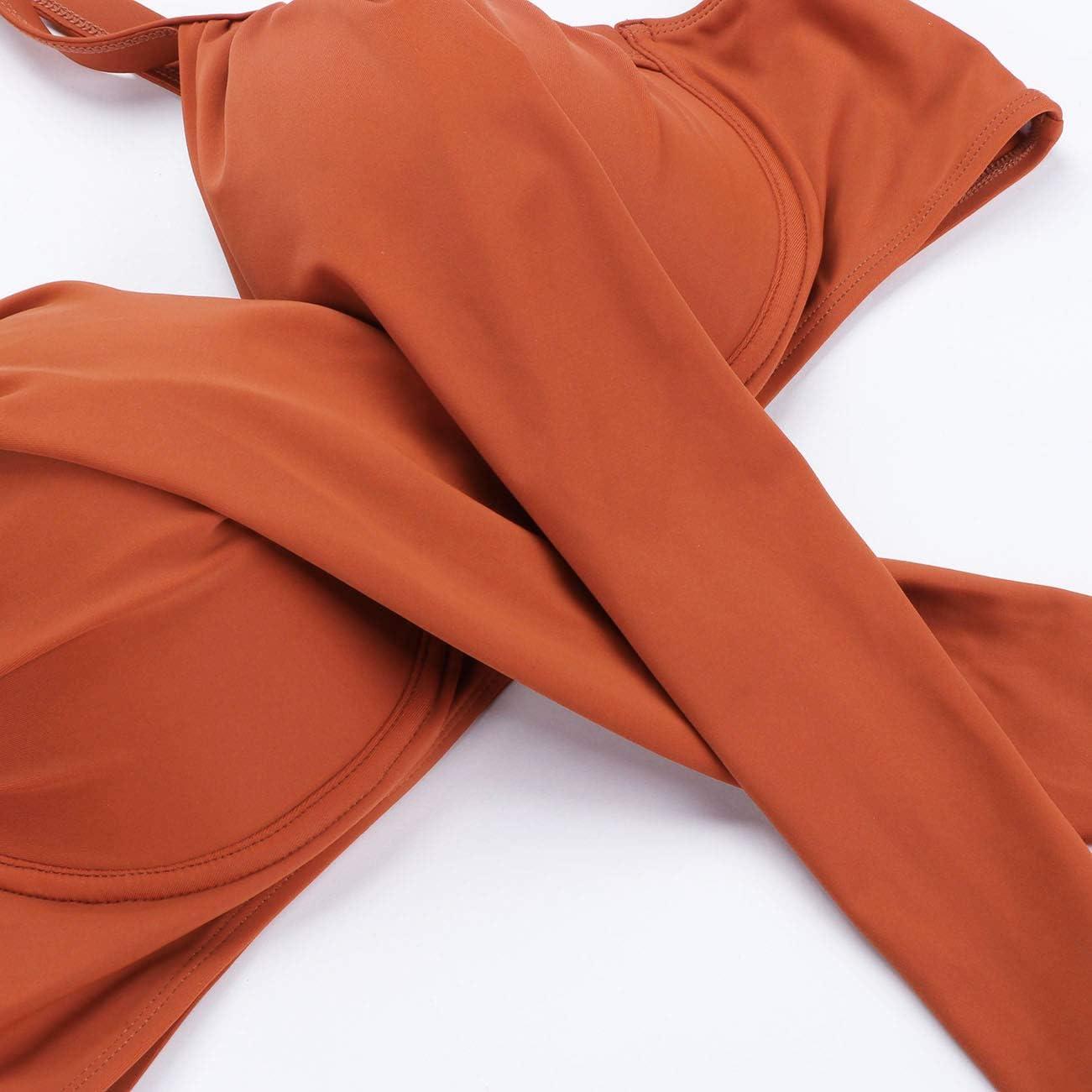 FeelinGirl Bikini Tankini Bademode Badeanzug Monokini Retro Gro/ß Gr/ö/ße Bikini Sets Plus Size Bandeau High Waist Bikini Damen Bauchweg
