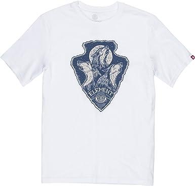 Element Howl - Camiseta para hombre Color blanco. M: Amazon.es: Ropa y accesorios