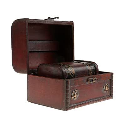 bda3dfaec Buy Generic Antique Big Small Jewelry Organizer Wooden Chest Case Wedding  Gift Home Decor Box Pack of 2Pcs Online at Low Prices in India | Amazon  Jewellery ...