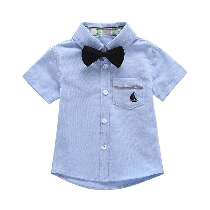 783aa7882e69 Little Gentleman Bow Tie Short Sleeve Shirt Toddler Baby Boys ...
