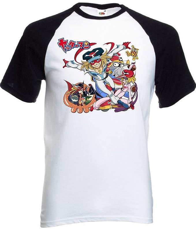 Abrastore t shirt yattaman cartoons maglietta anni 80 maglia cartoni