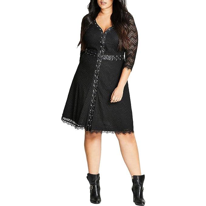 Gigi Luxe Plus Size Dress in Black - Size 16 / S at Amazon Women\'s ...