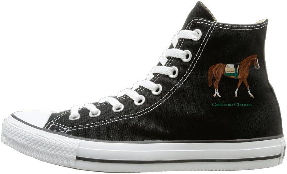 HoHo California Chrome Fun Unisex Black High-tops Canvas Shoes