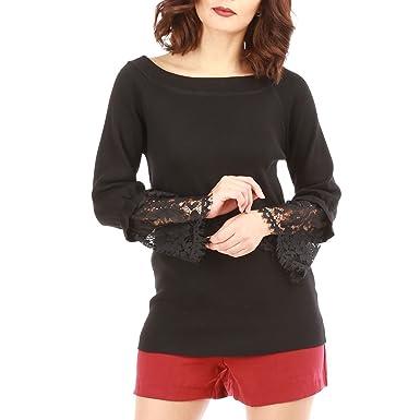 La Modeuse - Pull Femme col Bateau  Amazon.fr  Vêtements et accessoires 40ec9e187a59