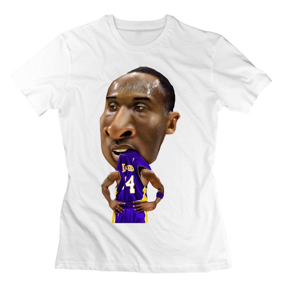Amazon.com  Leslie Womens Kobe Bryant My Dear Basketball 24 Lakers Tshirt  White L (6462320052109)  Books c8d6fb53cb