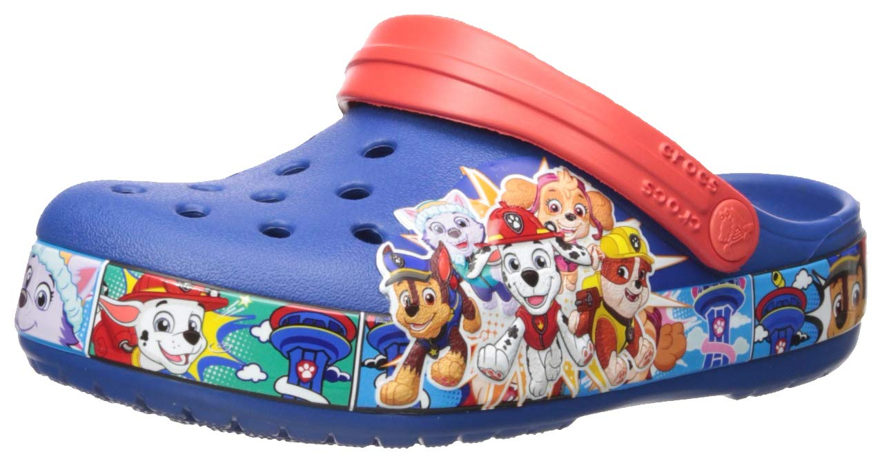 Crocs Kids' Boys and Girls Paw Patrol Band Character Clog, Blue Jean, 7 M US Toddler