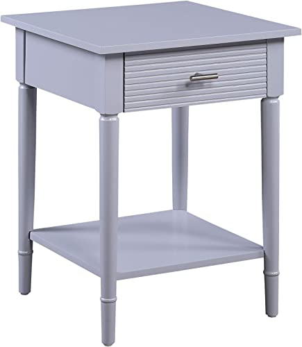 Convenience Concepts Amy End Table, Gray