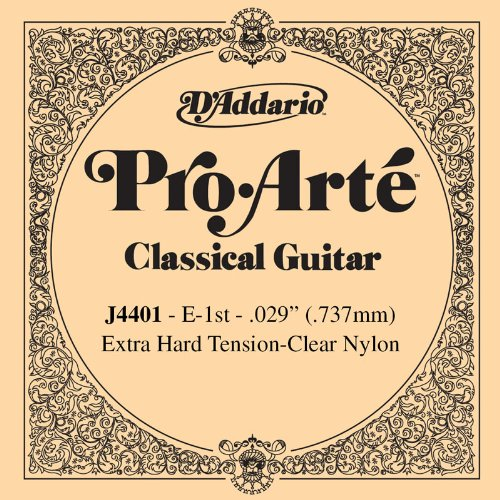 D'Addario J4401 Pro-Arte Nylon Classical Guitar Single String, Extra-Hard Tension, First String