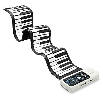 Rollo de Mano electronico Piano Portátil Botón 61/88 Silicona Teclado Engrosado Plegable Número La Musica Instrumento Musical Piano electrónico Suave ...