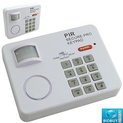Bid Buy Direct - Alarma con sensor infrarrojo pasivo de movimiento (inalámbrica, con 3