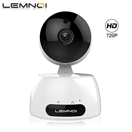 Lemnoi Cámara IP 720P HD WiFi Cámara de vigilancia, Audio bidireccional, Sensor de Movimiento