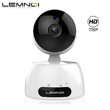 Lemnoi Cámara IP 720P HD WiFi Cámara de vigilancia, Audio bidireccional, Sensor de Movimiento Pan/Tilt/Zoom, visión Nocturna por Infrarrojos, Control ...