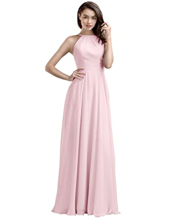 8a883f34bbf Amazon.com  AW Bridal Blush Bridesmaid Dresses Long Evening Dresses Women s  Gala Dresses
