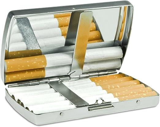Zigarettenetui mit Namen S/ören Edle Chrom-Metallbox mit Design Rosenherz Zigarettenschachtel Zigarettenbox Metallbox