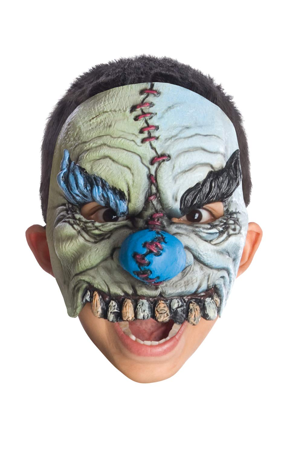 Rubie's Half Smiles Chinless Clown Mask, Gray, One Size