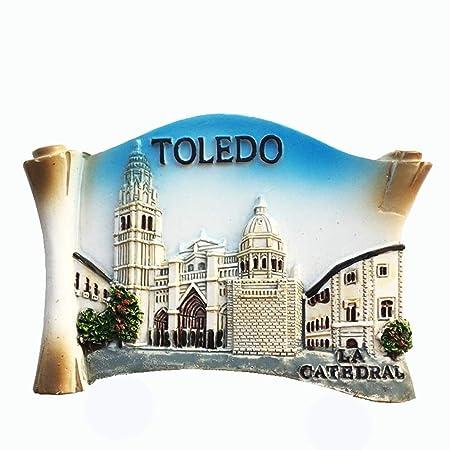 MUYU Magnet Imán para Nevera, diseño de la Catedral de Toledo ...