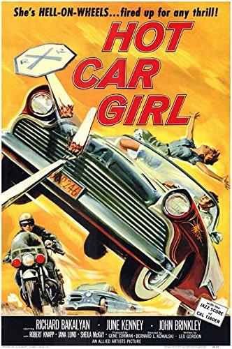hot girl poster car