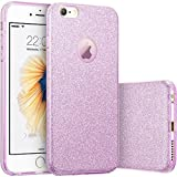 iPhone 6s Case, Vinpie 3 Layer Hybrid Protective Girls Bling Glitter Soft Cover Bumper Case for 4.7 inches iPhone 6s / 6 (Purple)