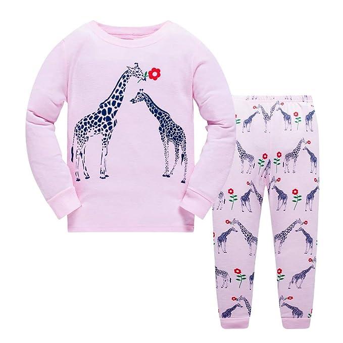 Niña Pijamas Jirafa Manga Larga Algodón Disfraz Ropa de Invierno